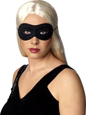 Adult Farfalla Black Satin Eye Mask