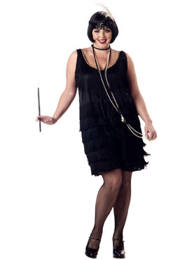 Adult Plus Size Fashion Flapper Costume (FC)