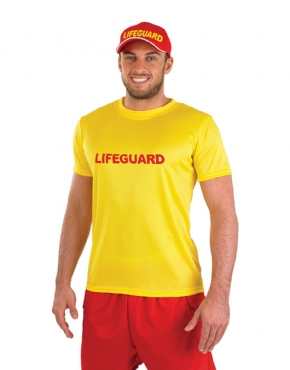 Adult Male Lifeguard Costume - Back View