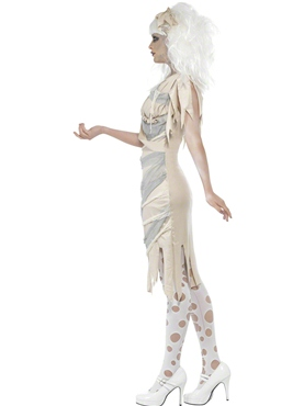 Adult Mummy Ladies Costume - Back View