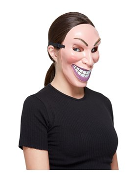 Female Smiler Mask - Back View
