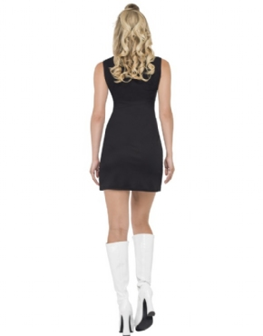 Adult Fever 60's Peace Lover Costume - Back View