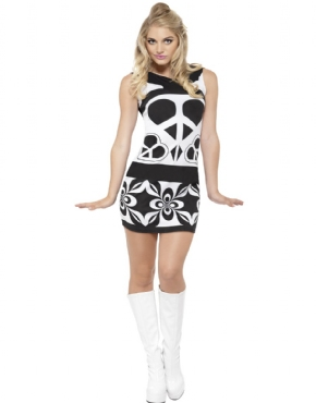 Adult Fever 60's Peace Lover Costume