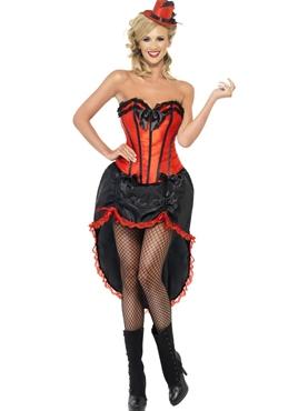 Adult Red Burlesque Dancer Costume