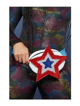 Fever Americana Sequin Star Bum Bag