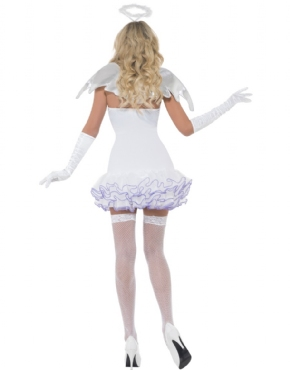 Adult Fever Angel Sequin Costume - Side View