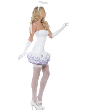 Adult Fever Angel Sequin Costume - Back View