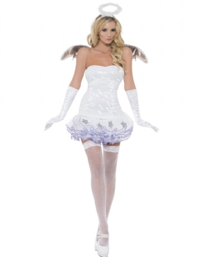 Adult Fever Angel Sequin Costume