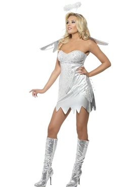 Adult Fever Angel Shimmer Costume - Side View