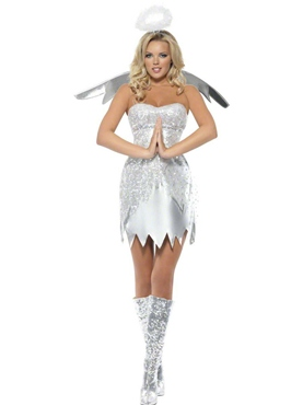 Adult Fever Angel Shimmer Costume