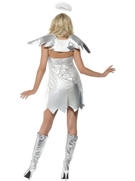 Adult Fever Angel Shimmer Costume - Back View
