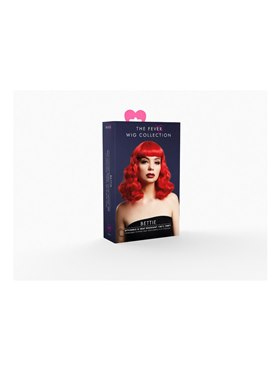 Fever Bettie Wig Red - Back View