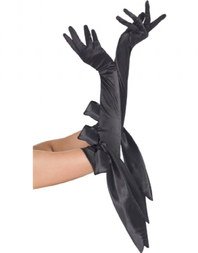 Fever Satin Bow Gloves