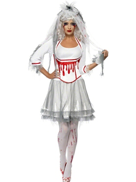 Adult Fever Blood Drip Bride Costume