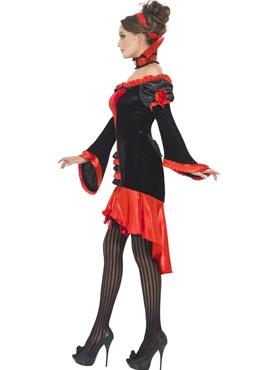 Adult Fever Boudoir Vampiress Costume - Back View