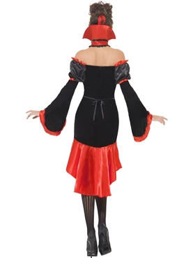 Adult Fever Boudoir Vampiress Costume - Side View