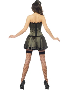 Adult Fever Boutique Army Costume - Side View