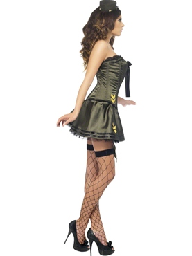 Adult Fever Boutique Army Costume - Back View
