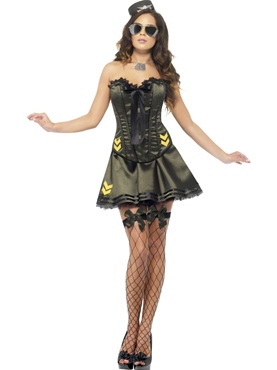 Adult Fever Boutique Army Costume