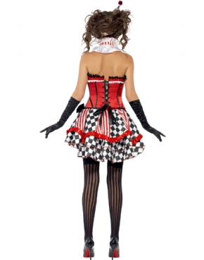 Adult Fever Boutique Clown Cutie Costume - Side View