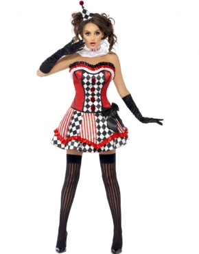Adult Fever Boutique Clown Cutie Costume - Back View