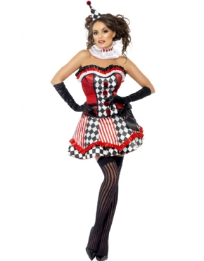 Adult Fever Boutique Clown Cutie Costume