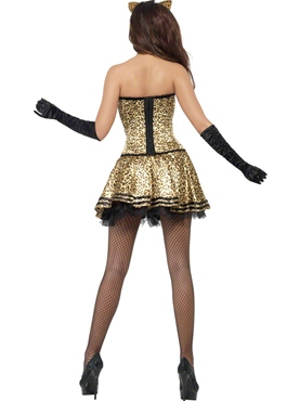 Adult Fever Boutique Kitty Costume - Side View