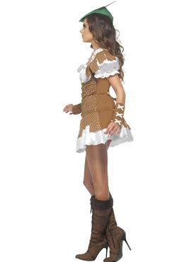 Adult Fever Boutique Sexy Robin Hood Costume - Back View