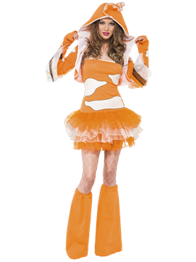 Adult Fever Clownfish Costume Couples Costume