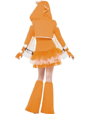 Adult Fever Clownfish Costume - Back View