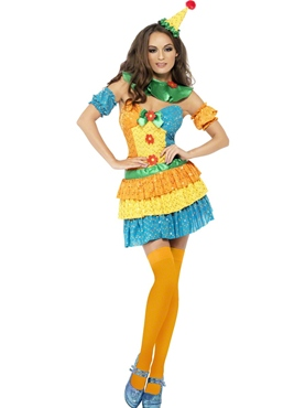 Adult Fever Colourful Clown Cutie Costume Thumbnail