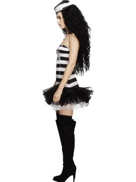 Adult Fever Convict Cutie Costume - Back View