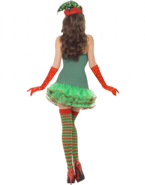 Adult Fever Elf Sequin Costume - Side View