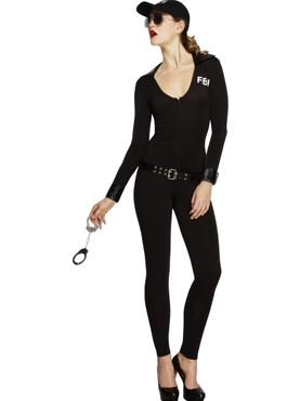 Adult Fever FBI Flirt Police Costume