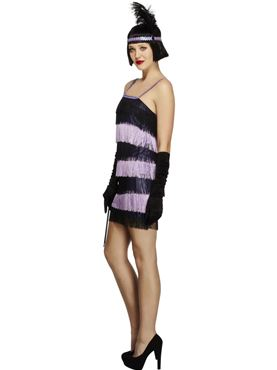 Adult Fever Flapper Costume - Back View