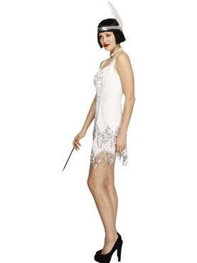 Adult Fever Flapper Dazzle Costume - Back View