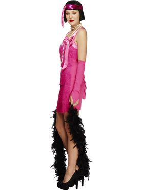 Adult Fever Flapper Hotty Costume - Back View