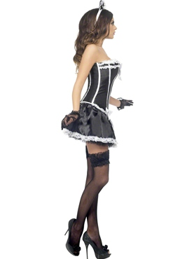 Adult Fever French Maid Costume - Back View