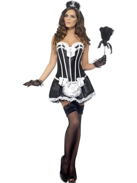 Adult Fever French Maid Costume