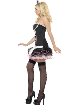 Adult Fever French Maid Fancy Costume - Back View