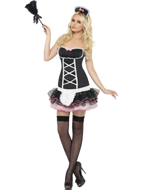 Adult Fever French Maid Fancy Costume