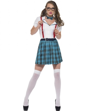 Adult Geek School Girl Costume