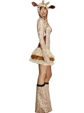 Adult Fever Giraffe Costume - Back View