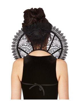 Fever Gothic Lace Stand Up Collar - Back View
