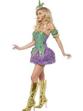 Fever Harlequin Shine Costume - Side View