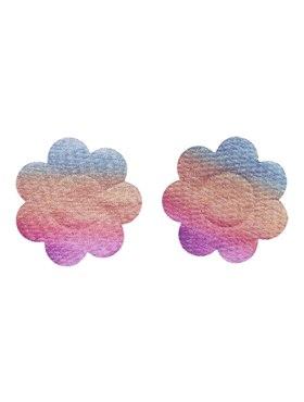 Fever Irridecent Rainbow Flower Nipple Pasties