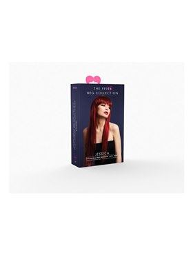 Fever Jessica Wig True Blend Ruby Red - Back View