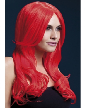 Fever Khloe Wig Neon Red