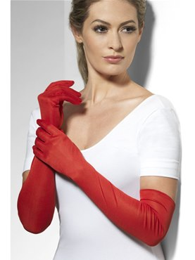 Fever Long Red Gloves