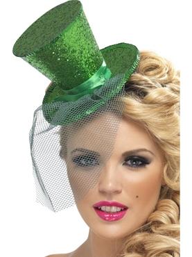 Fever Mini Dark Green Top Hat